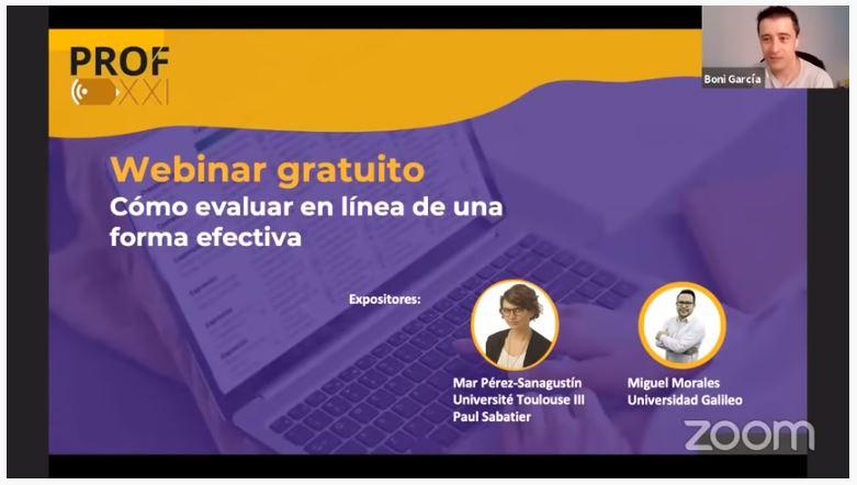 Webinar: «Cómo evaluar en línea de forma efectiva»