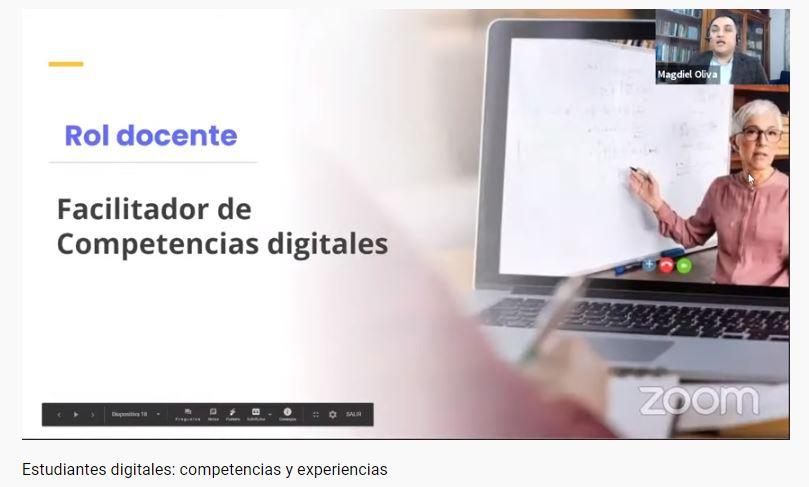 Webinar: Estudiantes digitales, competencias y experiencias