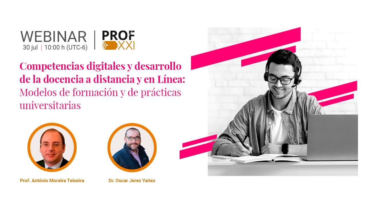 Webinarios PROF-XXI concluyen con éxito e impactan a la comunidad docente de Latinoamérica.