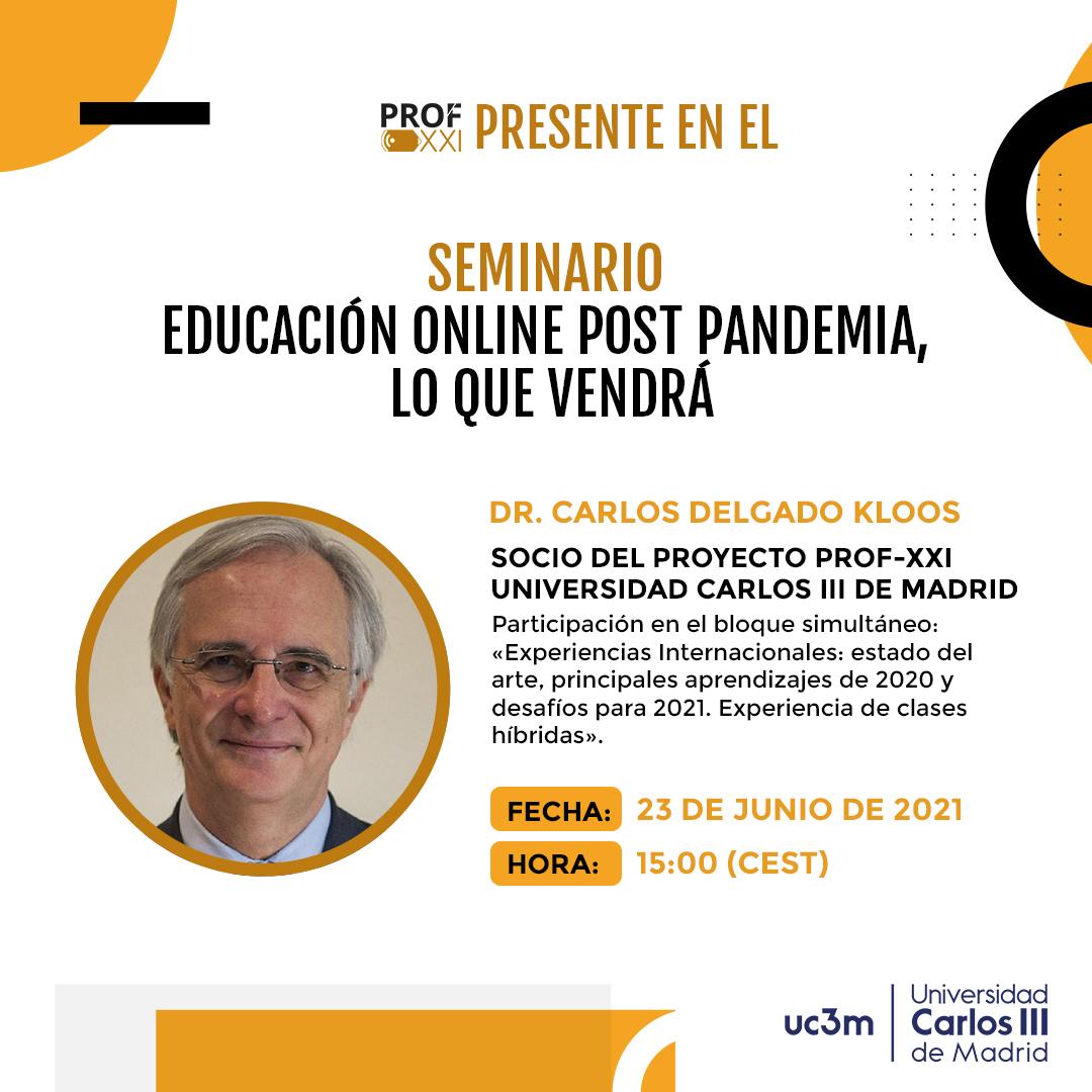Seminario «Educación Online post pandemia, lo que vendrá».