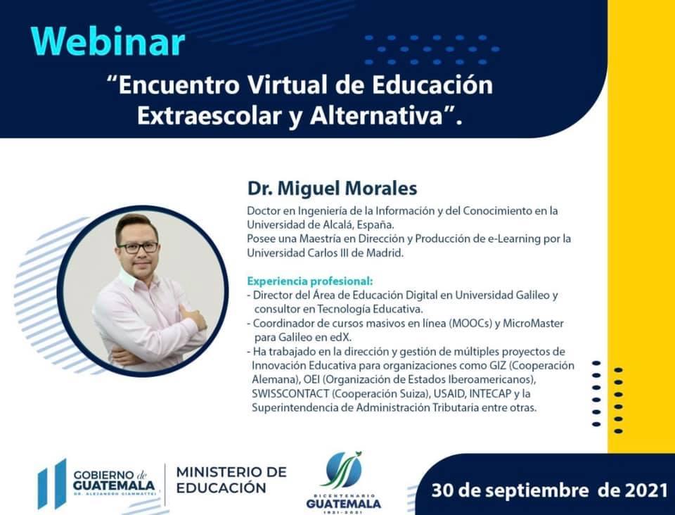 Webinar «Encuentro Virtual de Educación Extraescolar y Alternativa»